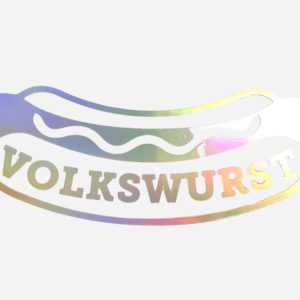 Volkswurst sausage stamp sticker